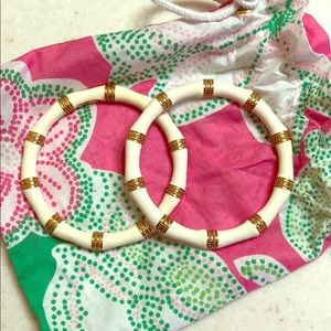 2 beautiful cream and gold Lilly Pulitzer bangles